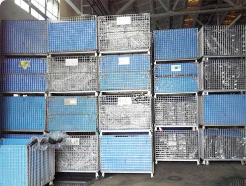 电子电器件行业仓库笼应用