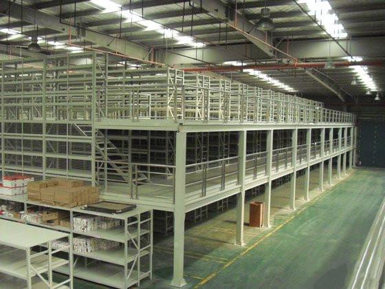 三层钢构平台货架