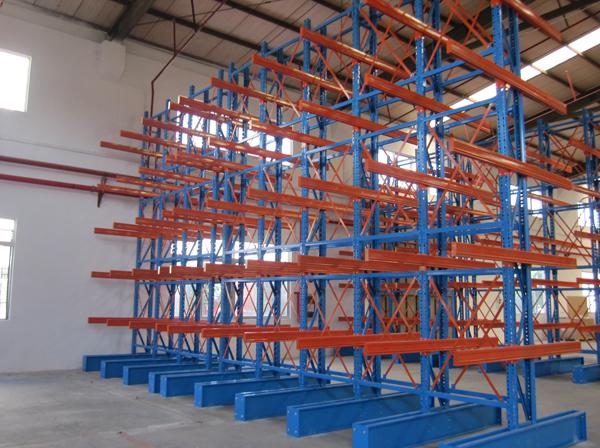 长物料双悬臂货架  仓库悬臂货架