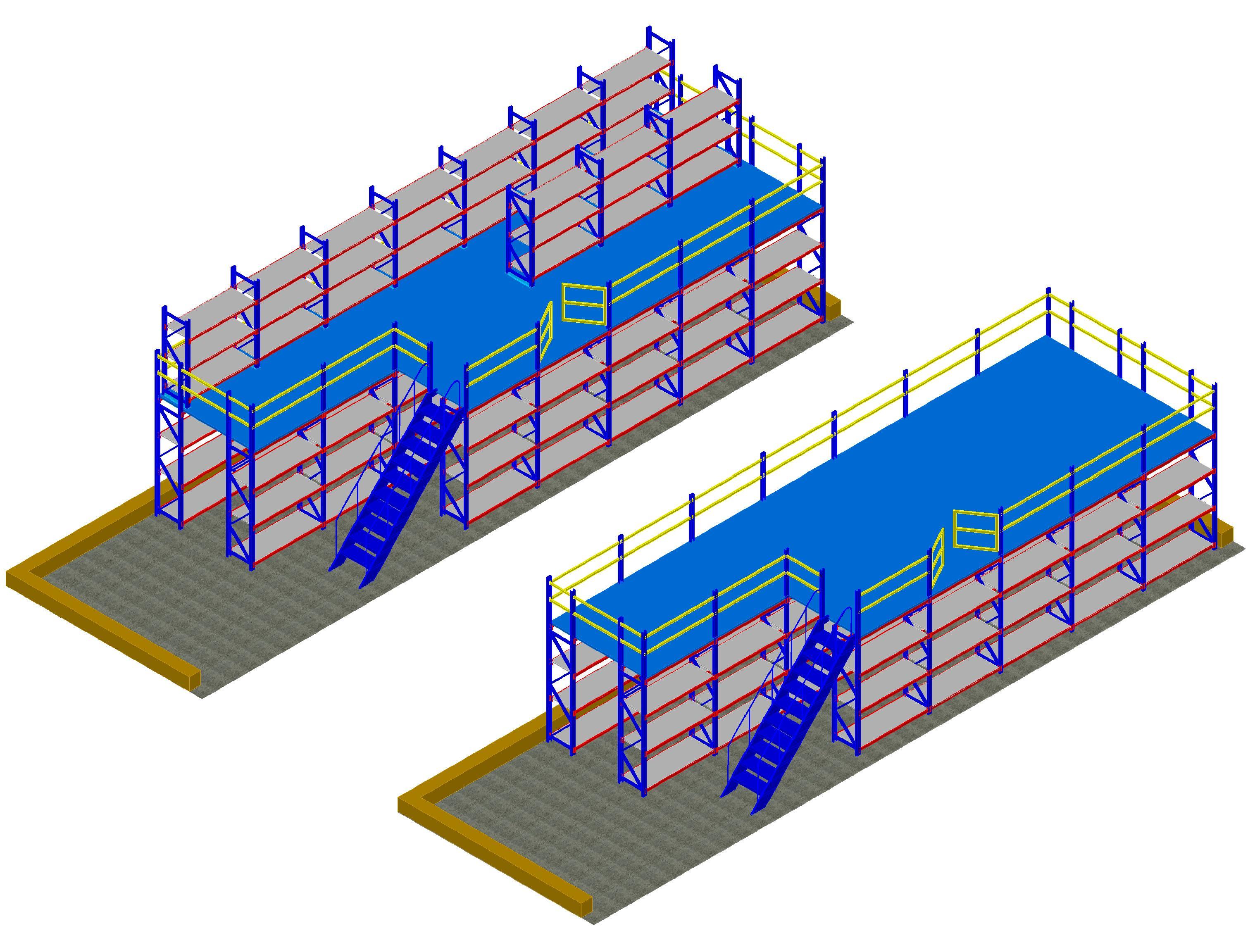 电商企业仓库中型层板货架