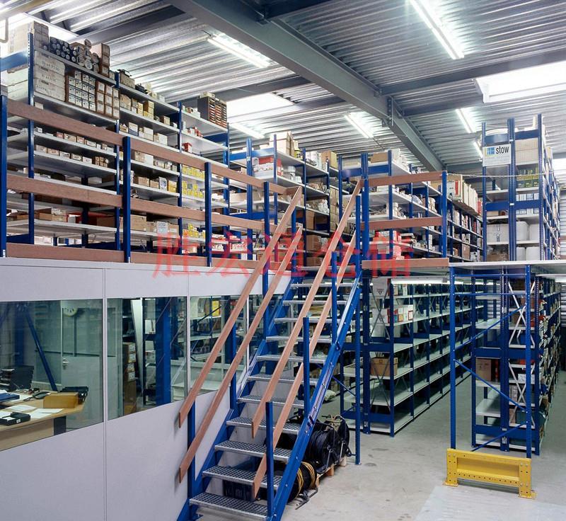 平台货架二楼隔层仓库货架,专业货架平台定制厂家