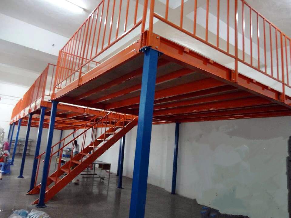 工厂定制二层钢构平台货架