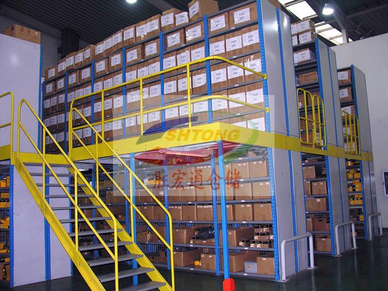 重型阁楼平台货架专业定制  二层仓库平台