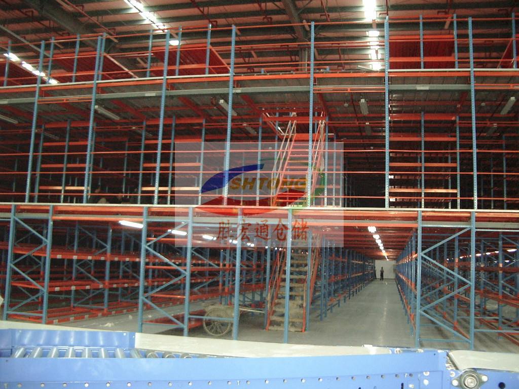 工厂小平台阁楼货架生产  胜宏通货架厂专业规划定制