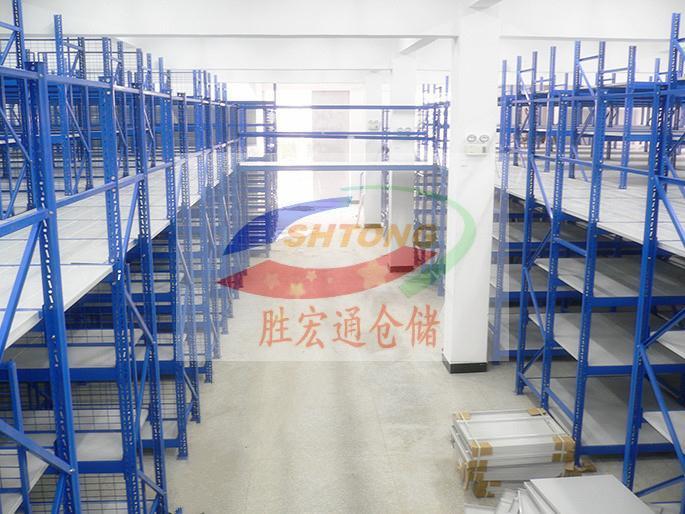 商铺夹层平台货架   阁楼平台货架专业测量生产定制13420065223